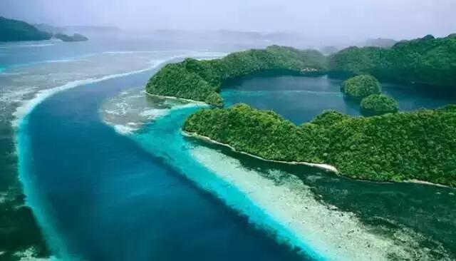 是游客前往大断层的必经之路,沿途有状似五角形的星象岛,帕劳海洋生态