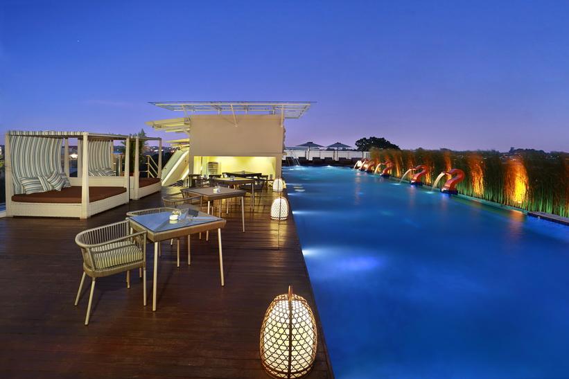 巴厘岛阿雅娜水疗度假酒店奢享之旅 东南亚唯一的海水浴水疗馆(世界最