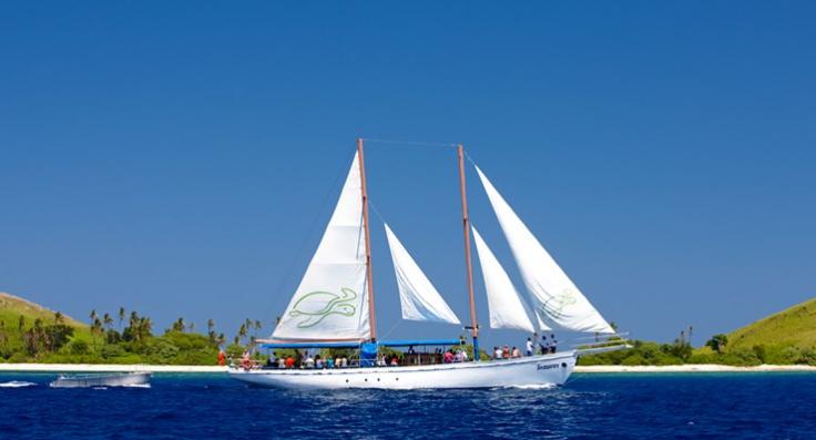 双桅杆船出海荒岛余生一日游